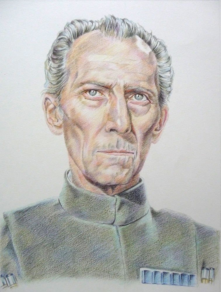 Peter Cushing by Olivier_Lerousseau